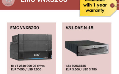 EMC Storage systems – Available now!
