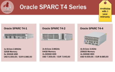 The Oracle SPARC T4 Series are now available and only one phone call away!
