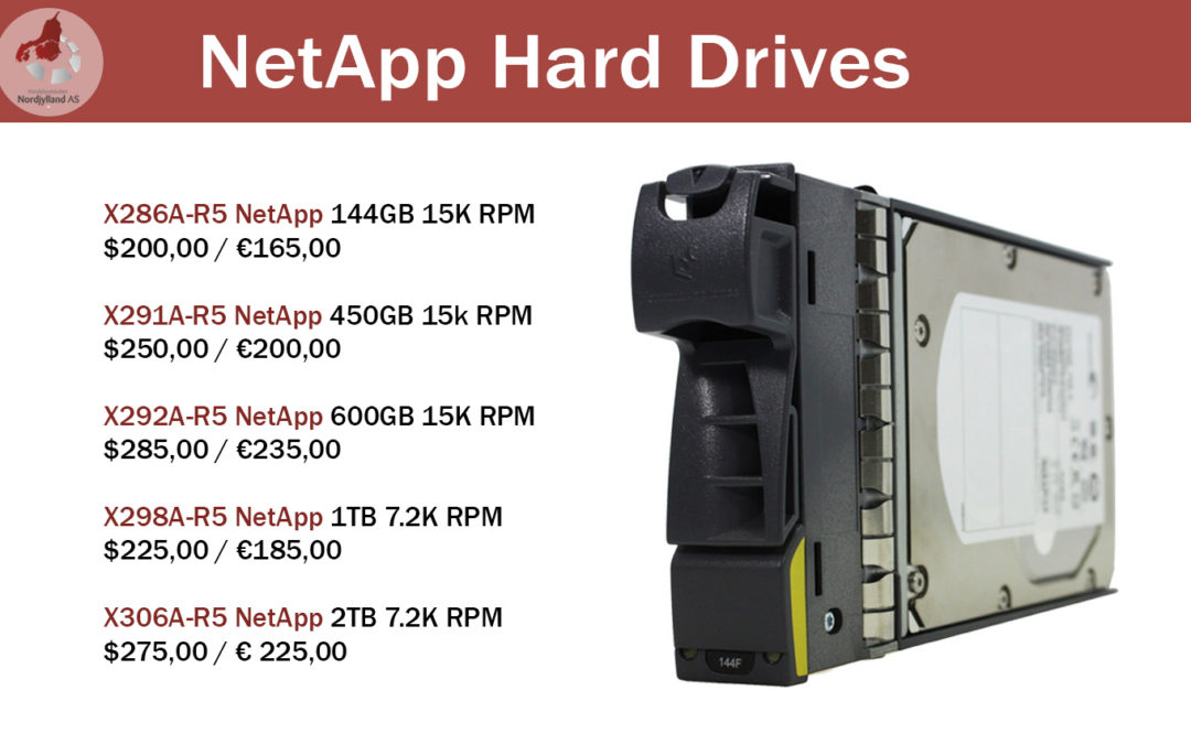 Special offer for NetApp Hard Drives!